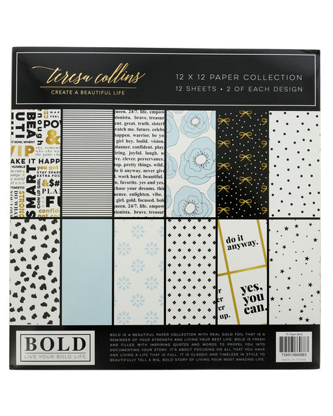 "Bold Life 12"" x 12"" Paper Collection - Teresa Collins Studio"