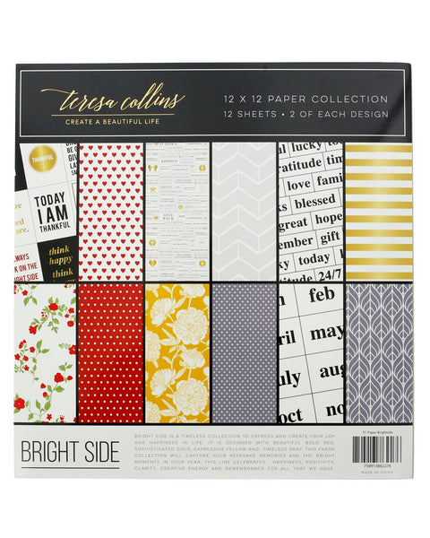 "Bright Side 12"" x 12"" Paper Collection - Teresa Collins Studio"