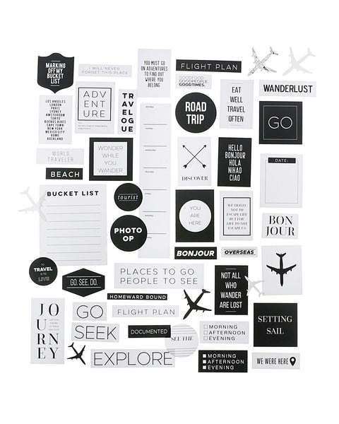 Jetsetter Die Cut Ephemera Pack