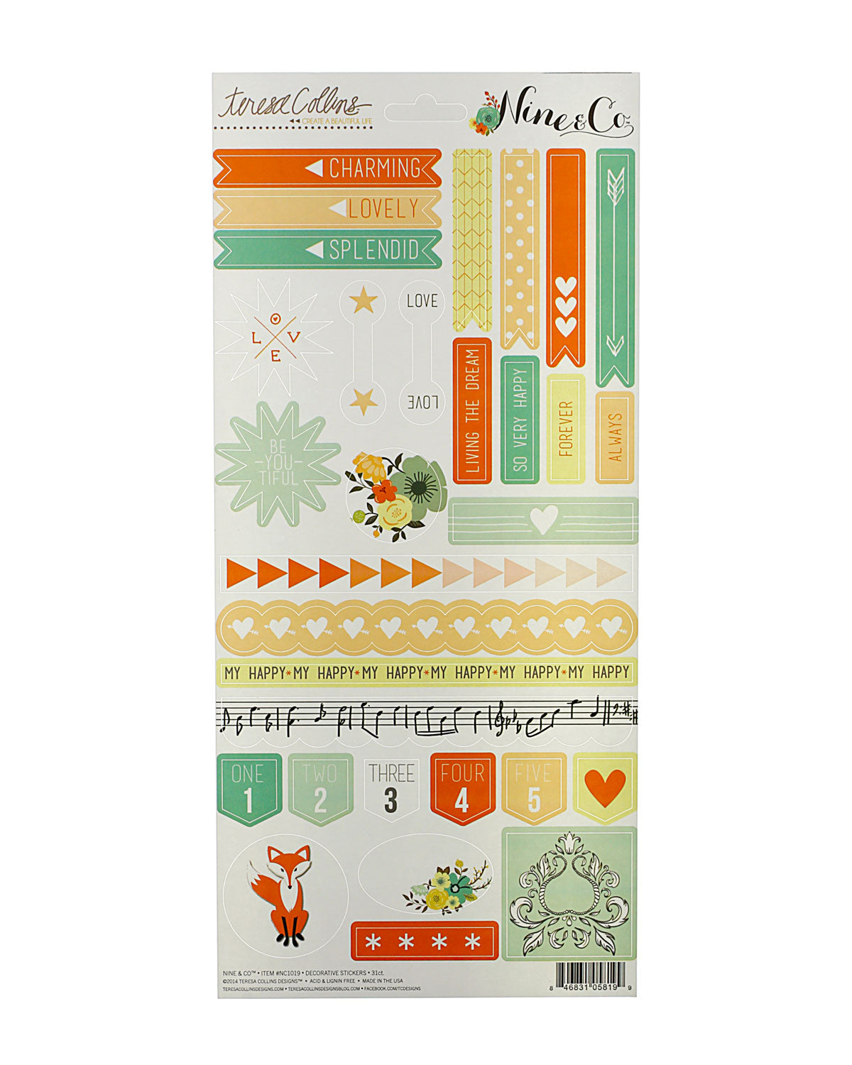 Nine & Co Decorative Planner Stickers