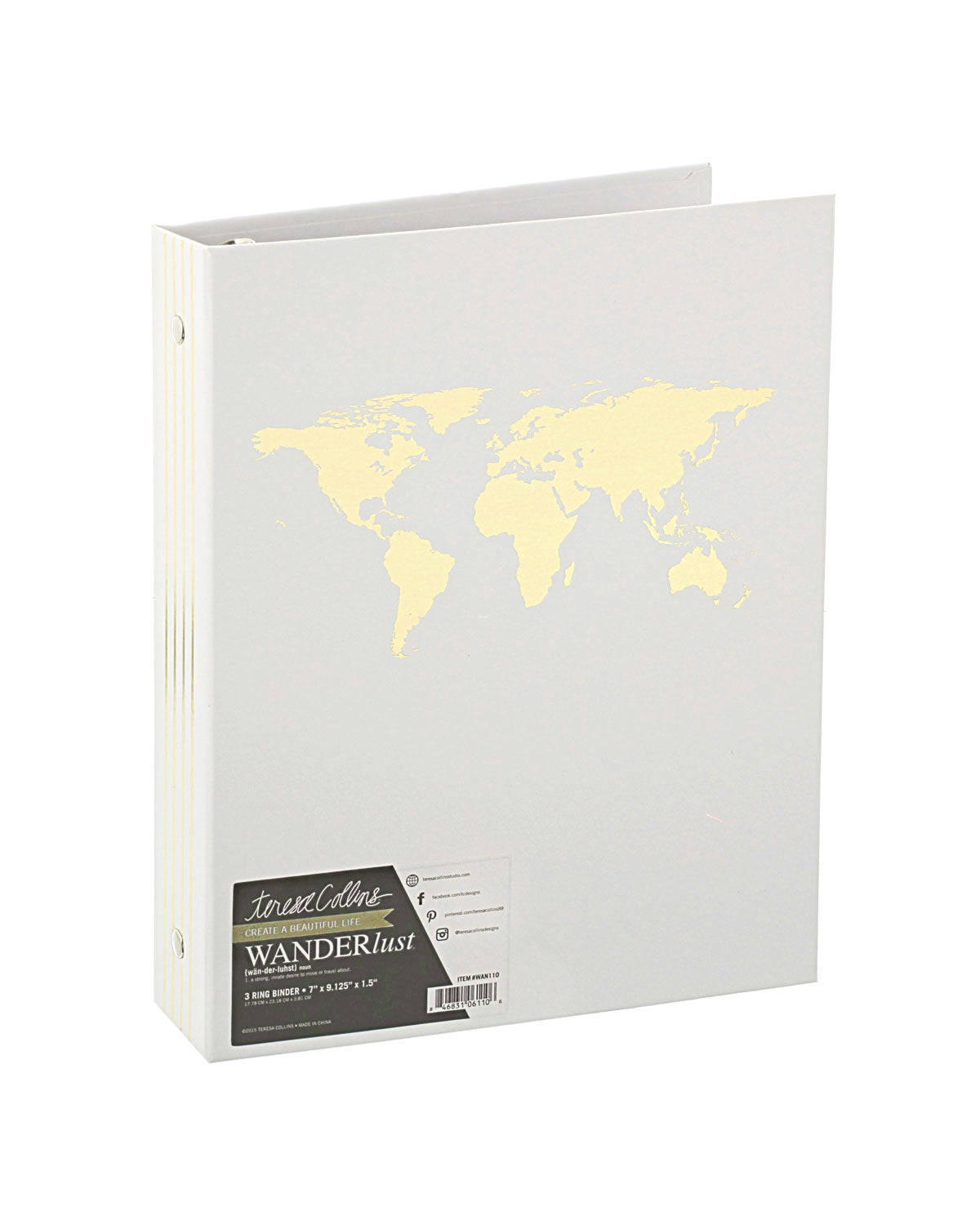 Wanderlust 3 Ring Binder