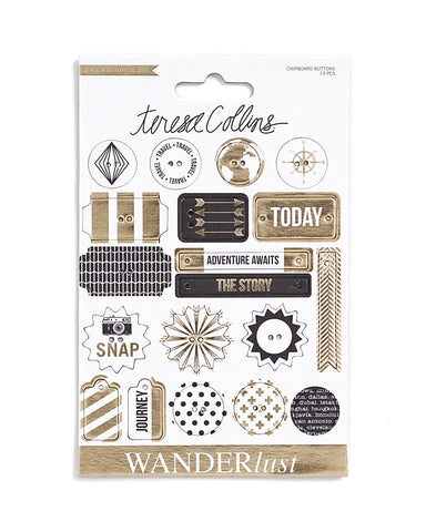 Wanderlust Chipboard Buttons