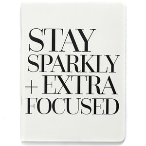 Stay Sparkly Notebook   White