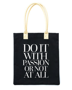 Do it with Passion Tote Bag | Black - Teresa Collins Studio