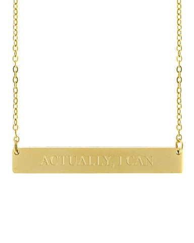 Actually, I Can Bar Necklace | Gold - Teresa Collins Studio