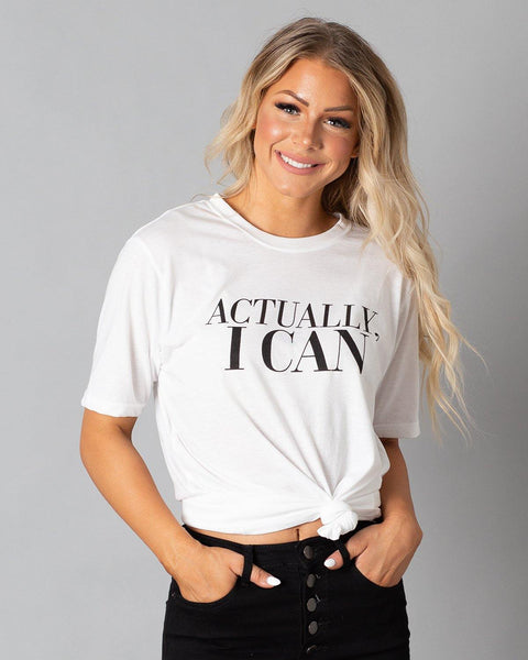 Actually, I Can T-Shirt | White - Teresa Collins Studio