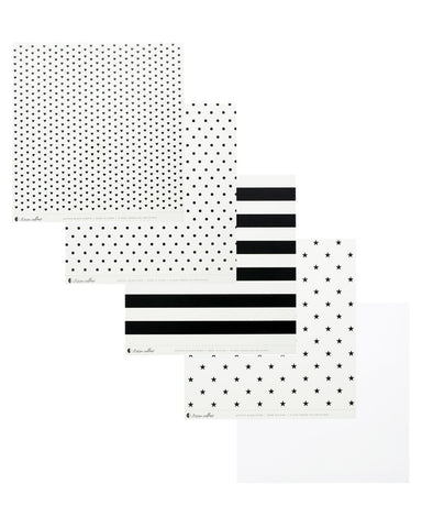 Clear Acetate Paper with Black Patterns - Teresa Collins Studio