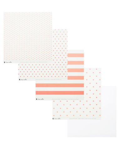 Clear Acetate Paper with Pink Patterns - Teresa Collins Studio