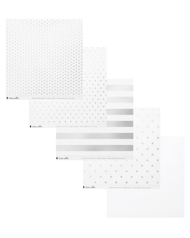 Clear Acetate Paper with Silver Patterns - Teresa Collins Studio