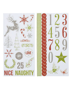Candy Cane Lane Chipboard Elements