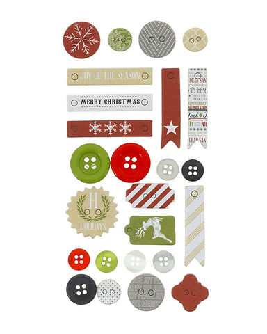Candy Cane Lane Decorative Buttons