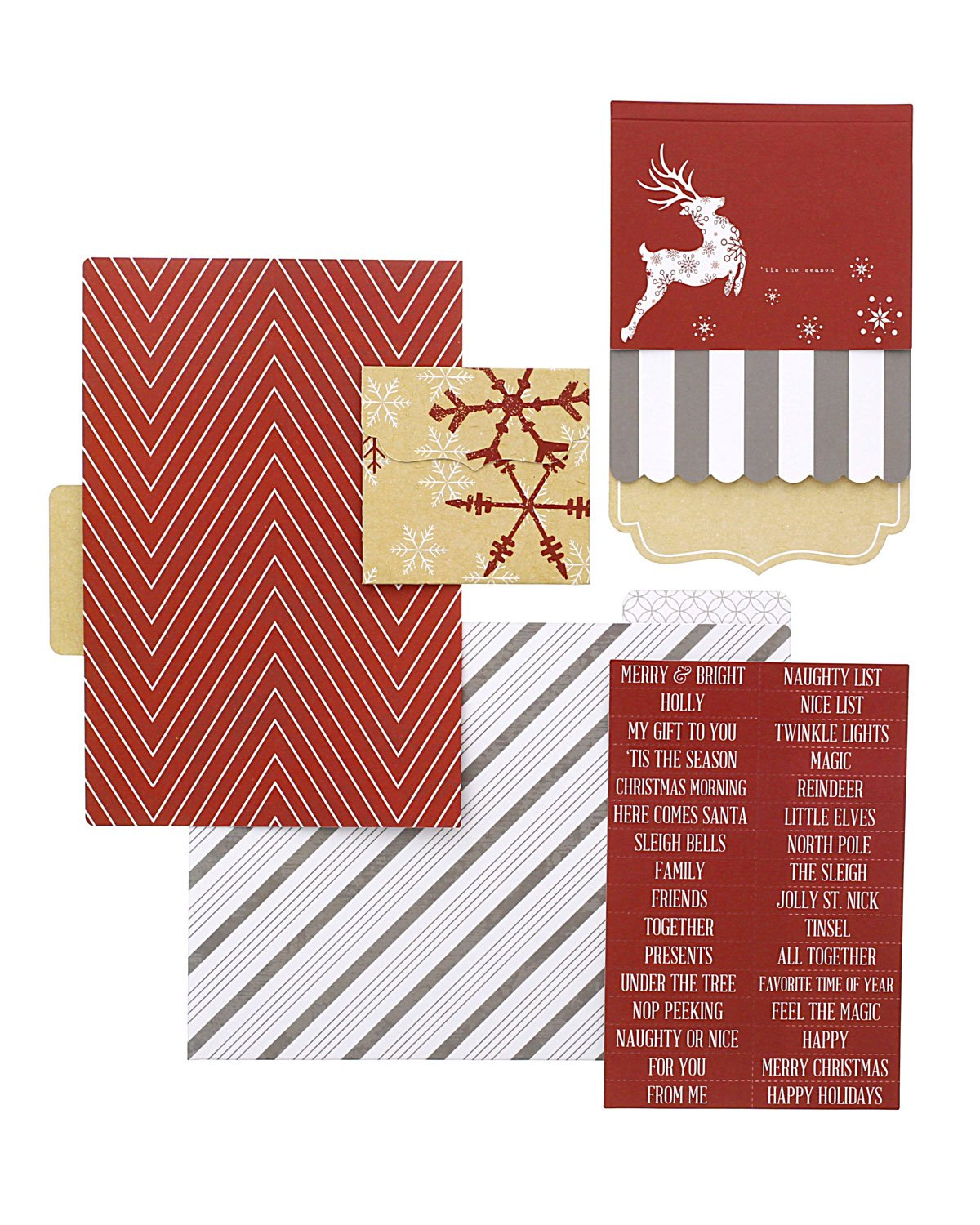 Candy Cane Lane File Folders