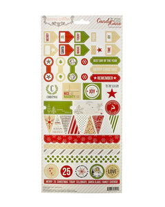 Candy Cane Lane Decorative Stickers