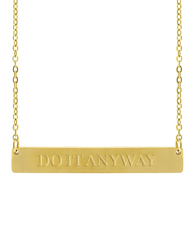 Do It Anyway Bar Necklace | Gold - Teresa Collins Studio