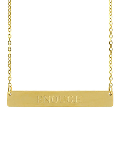 Enough Bar Necklace | Gold - Teresa Collins Studio