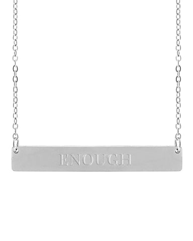 Enough Bar Necklace | Silver - Teresa Collins Studio