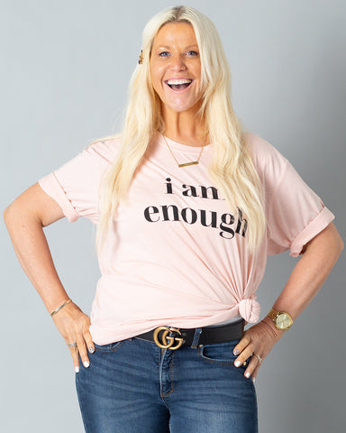 I Am Enough T-Shirt | Pink