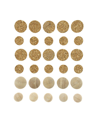 Life Emporium Wood/Cork Dots