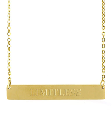 Limitless Bar Necklace | Gold - Teresa Collins Studio