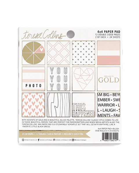 "Photo Gallery 4"" x 4"" Blush Paper Pad"