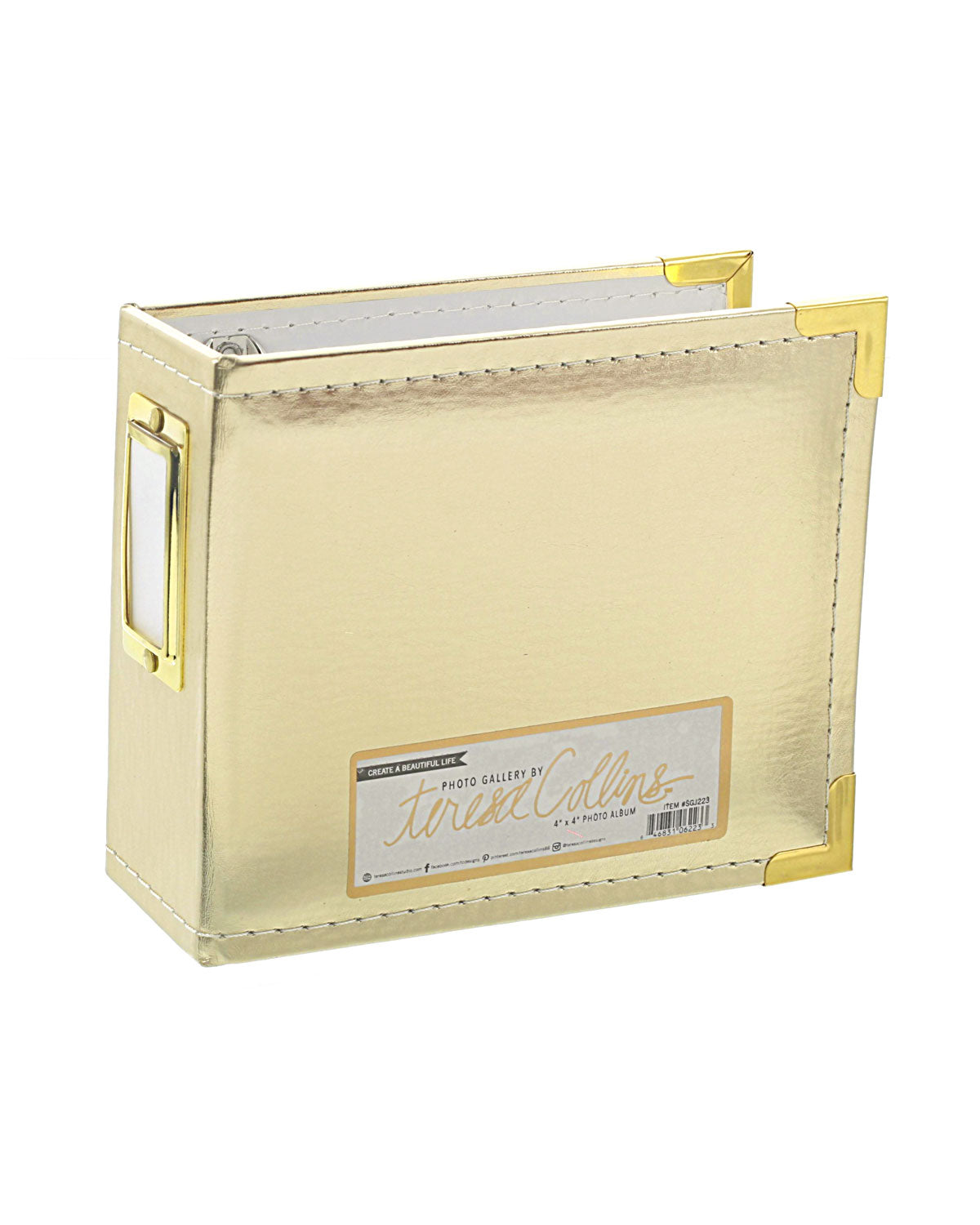 "Photo Gallery 4"" x 4"" Gold Photo Album"