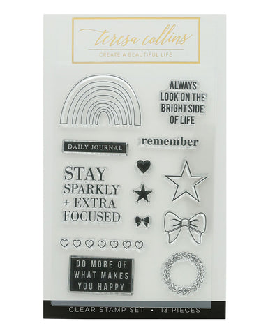Bright Side Remember Stamp Set - Teresa Collins Studio