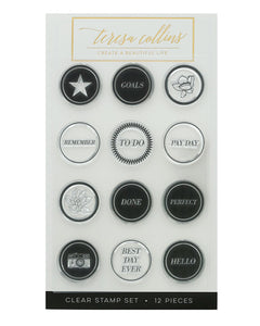 Goals Circle Stamp Set - Teresa Collins Studio