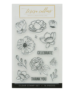 Floral Stamp Set - Teresa Collins Studio