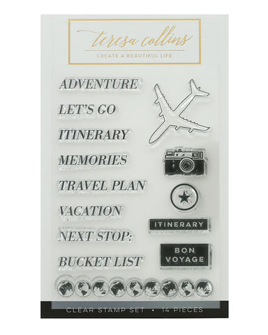 Jetsetter Adventure Stamp Set - Teresa Collins Studio