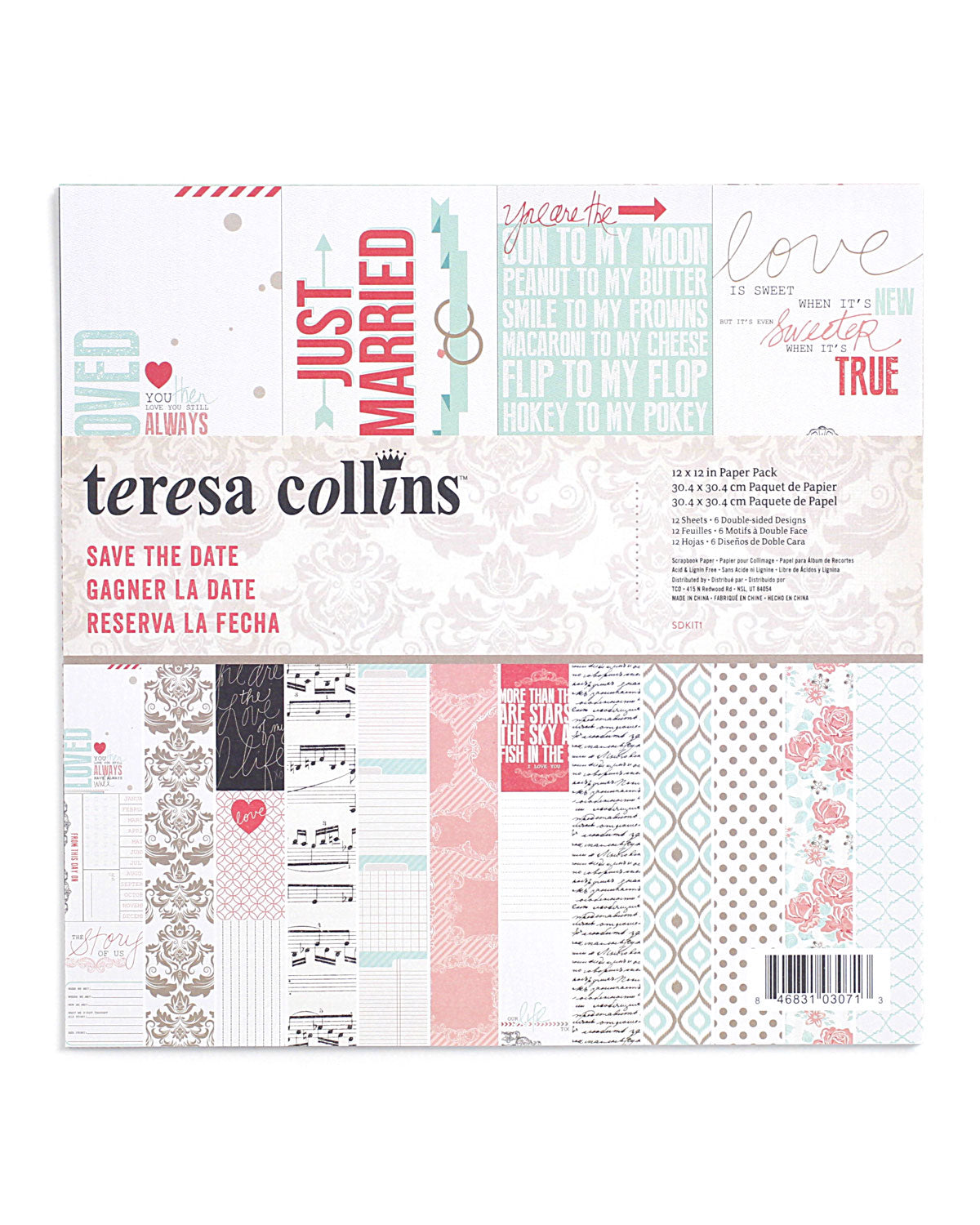 Save the Date 12 x 12 Paper Pack