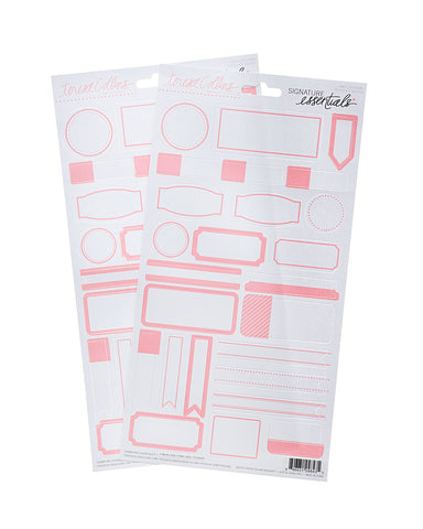 Signature Essentials Blush Label Stickers