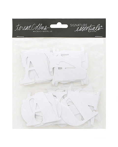 Signature Essentials Chipboard Alphas