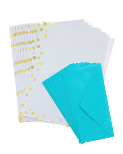 Studio Gold Dots Stationery Set