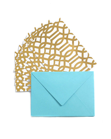 Studio Gold Lattice 12 Cards & Envelopes