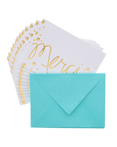 Studio Gold Merci 12 Cards & Envelopes