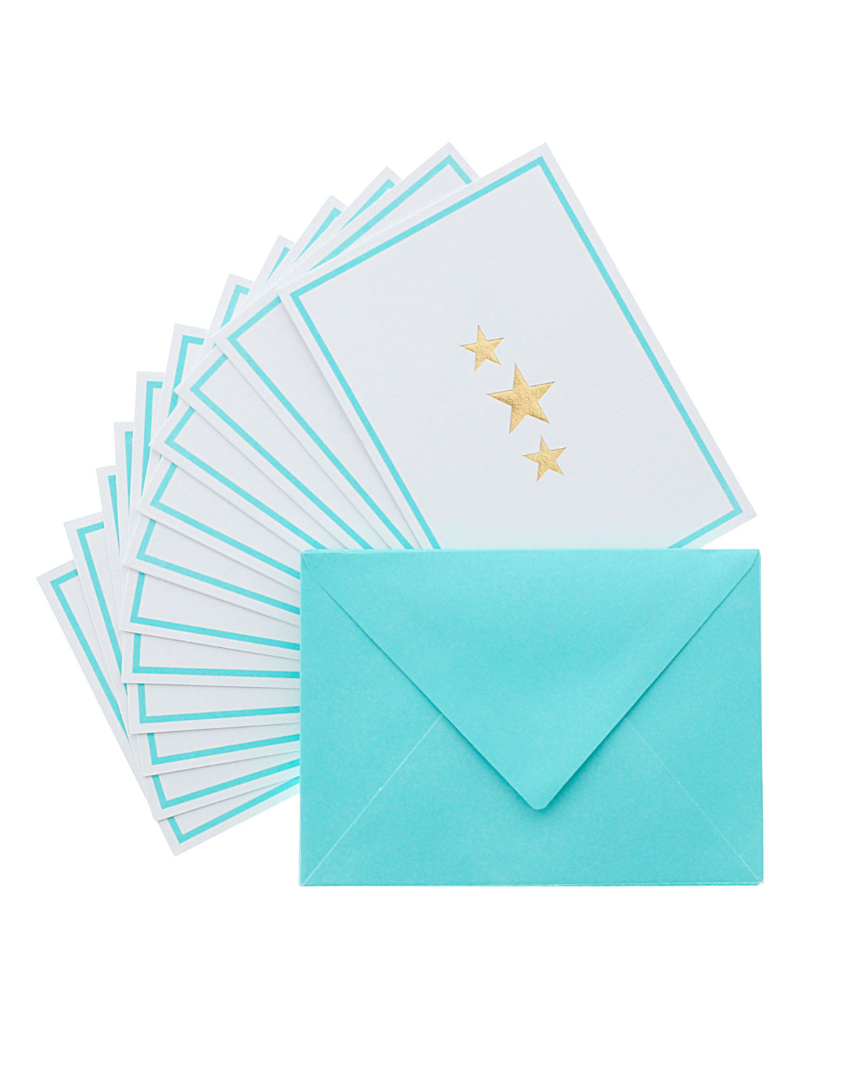 Studio Gold Stars 12 Cards & Envelopes