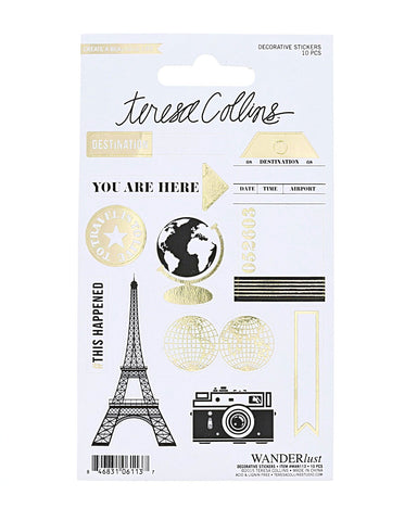 Wanderlust Decorative Stickers