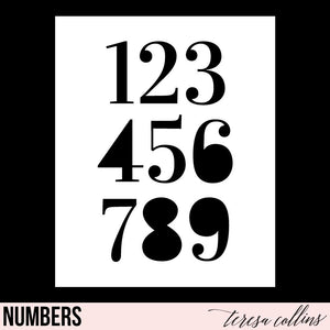Numbers - Teresa Collins Studio