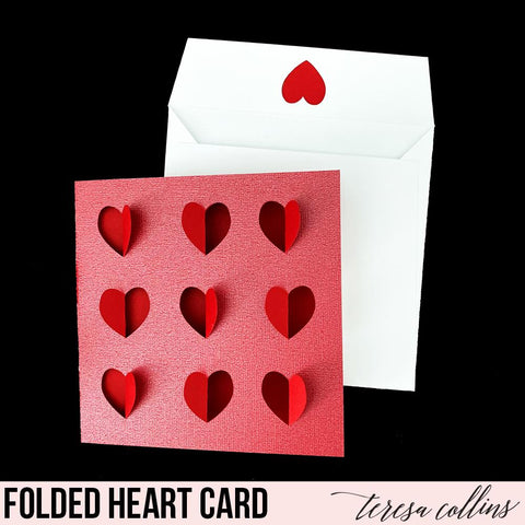 Folded Heart Card - Teresa Collins Studio