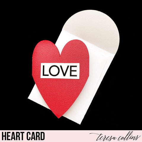 Heart Card and Envelope - Teresa Collins Studio