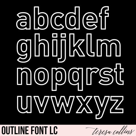 Outline Lowercase Alphabet