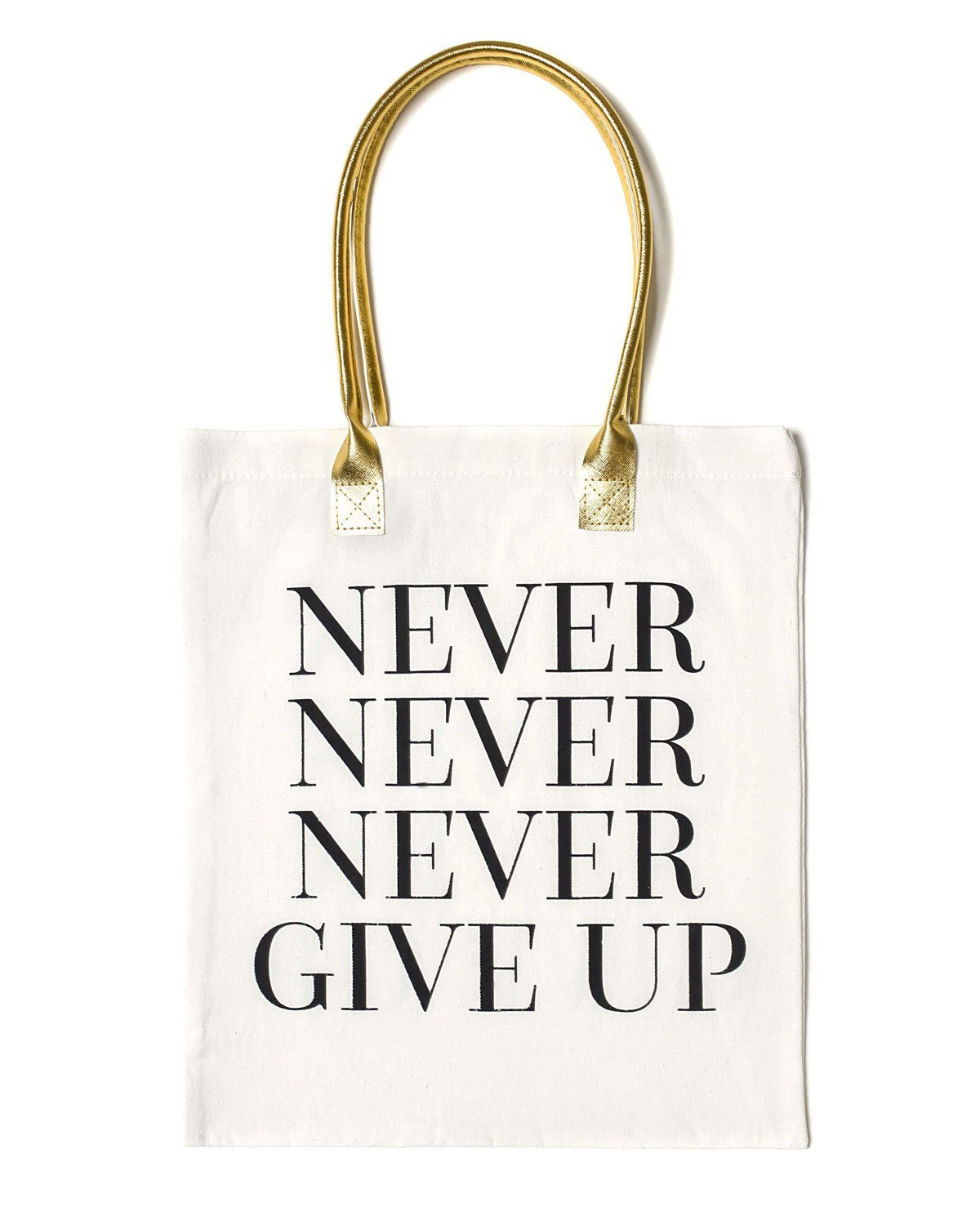 Never Give Up Tote Bag | White - Teresa Collins Studio