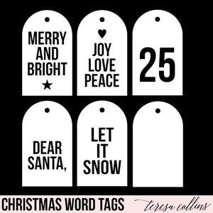 Christmas Word Tags