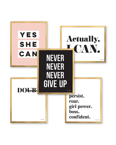 Never Give Up Print Set