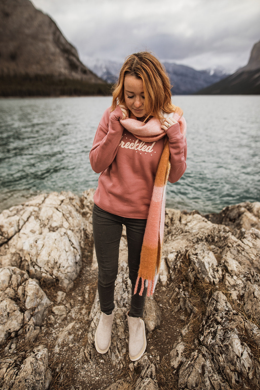 Mauve Freckled Sweatshirt