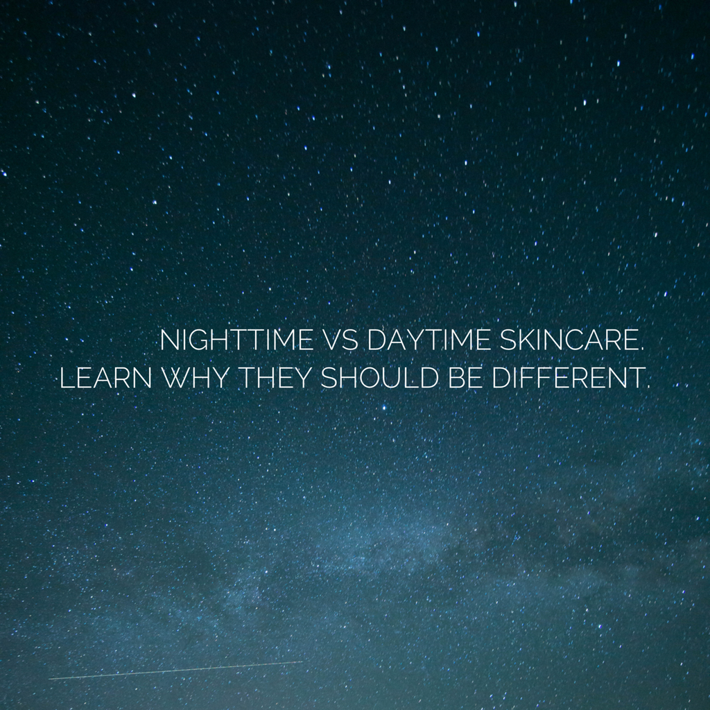 Nighttime vs. Daytime Skincare Routine