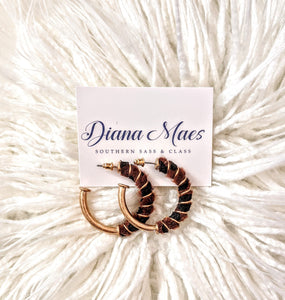 Diane Gold Hoop Earrings