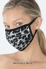 LEOPARD PRINT WASHABLE COTTON MASK
