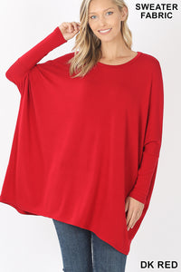 Your Mine Sweater Blouse  in Red