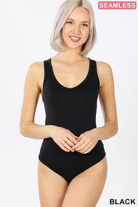 Racerback Bodysuit in Black